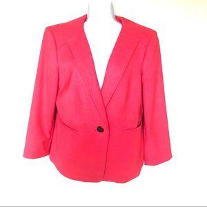 Jones Studio pink blazer with front slit pockets